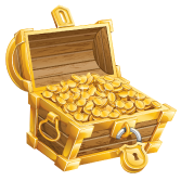 The money is safe in this chest once we close it